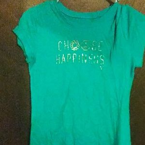 Teal Choose Happiness T